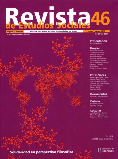 Revista de Estudios Sociales 46 de la Universidad de los Andes