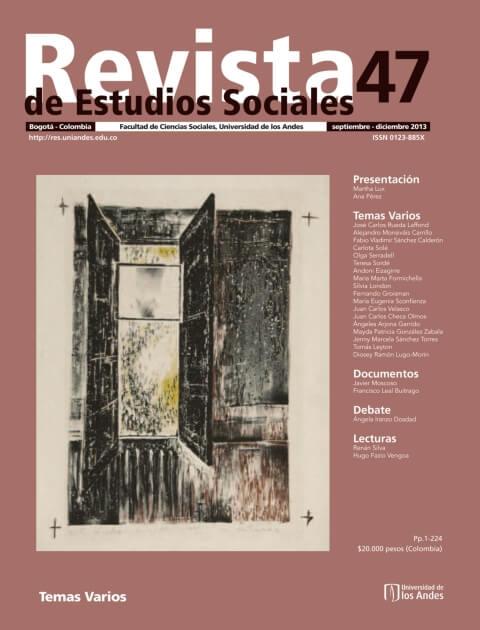 Revista de Estudios Sociales 47 de la Universidad de los Andes