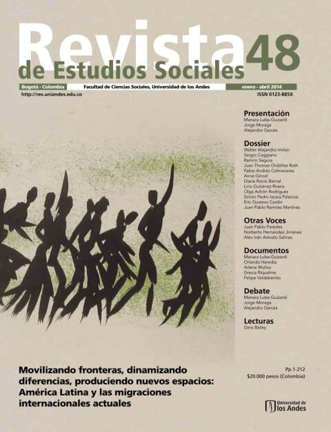 Revista de Estudios Sociales 48 de la Universidad de los Andes