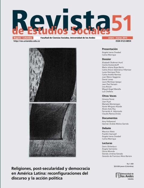 Revista de Estudios Sociales 51 de la Universidad de los Andes