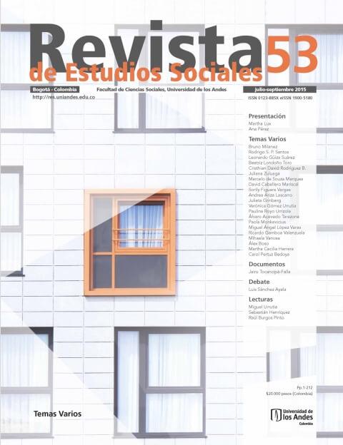 Revista de Estudios Sociales 53 de la Universidad de los Andes