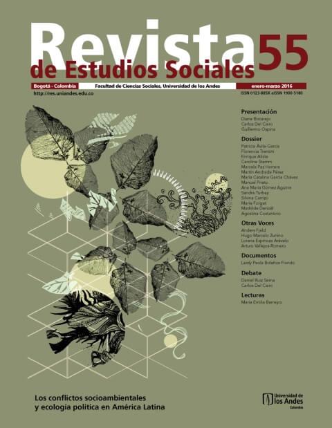 Revista de Estudios Sociales 55 de la Universidad de los Andes