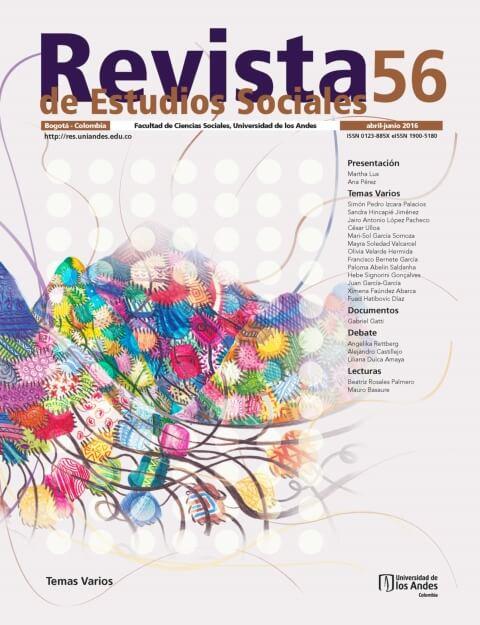 Revista de Estudios Sociales 56 de la Universidad de los Andes