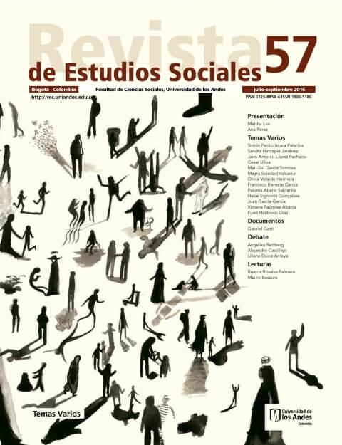 Revista de Estudios Sociales 57 de la Universidad de los Andes