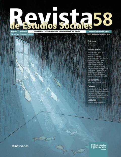 Revista de Estudios Sociales 58 de la Universidad de los Andes