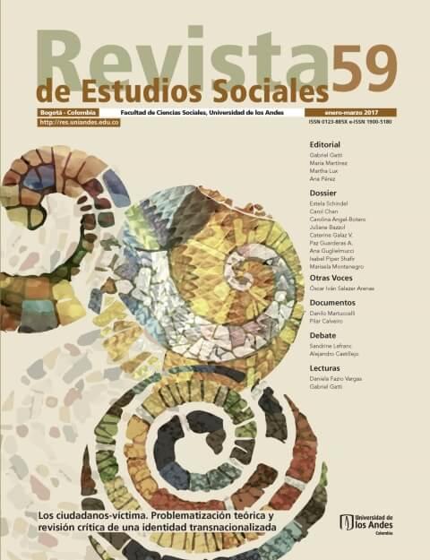 Revista de Estudios Sociales 59 de la Universidad de los Andes