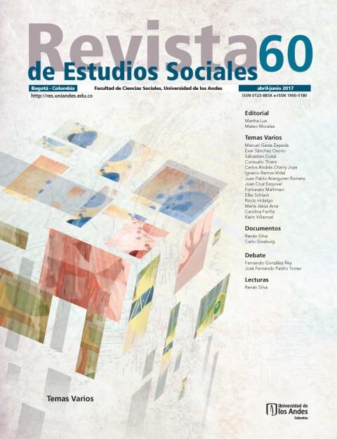 Revista de Estudios Sociales 60 de la Universidad de los Andes