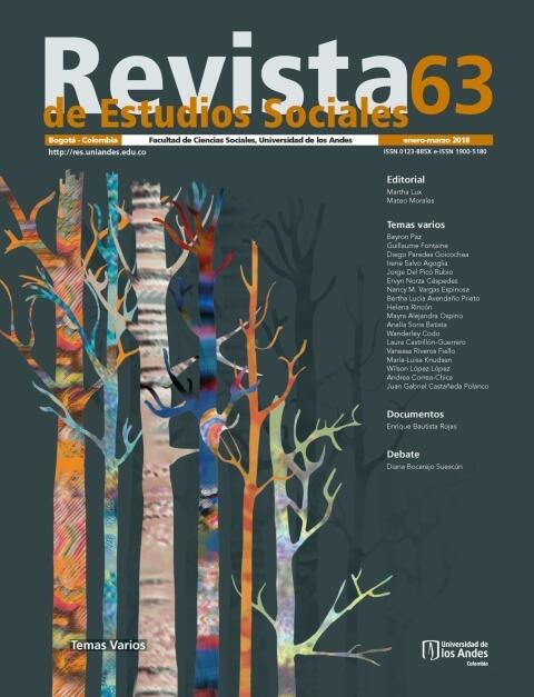 Revista de Estudios Sociales 63 de la Universidad de los Andes