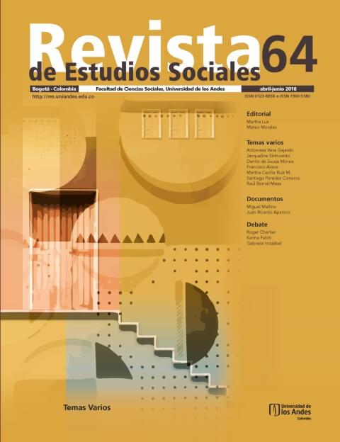 Revista de Estudios Sociales 64 de la Universidad de los Andes