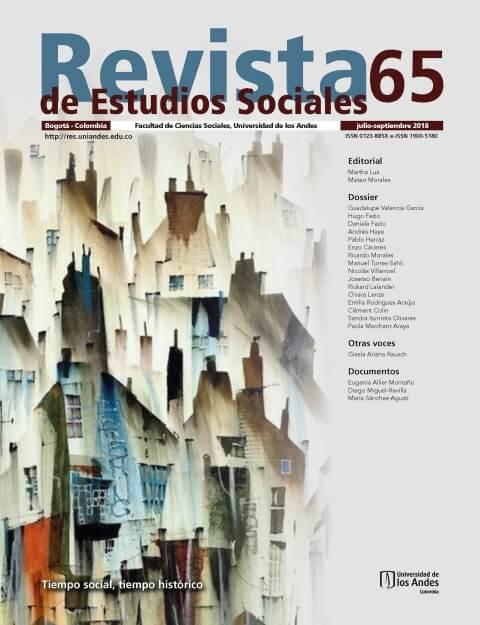 Revista de Estudios Sociales 65 de la Universidad de los Andes