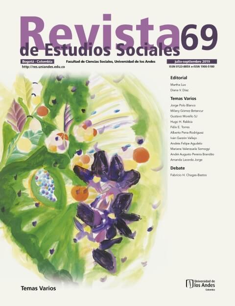 Revista de Estudios Sociales 69 de la Universidad de los Andes