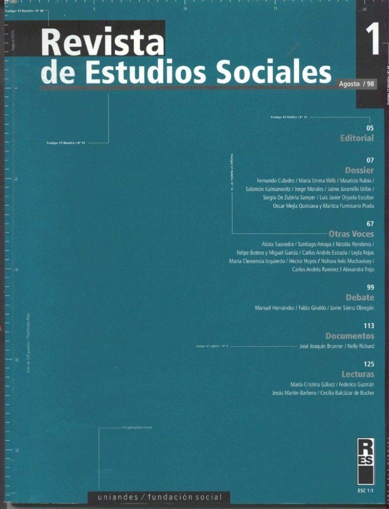 Revista de Estudios Sociales 1 de la Universidad de los Andes
