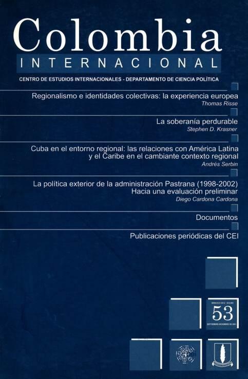 Revista Colombia Internacional 53 de la Universidad de los Andes