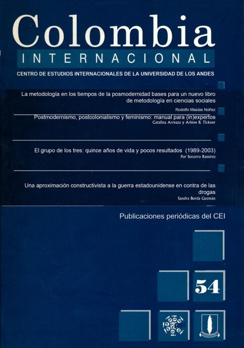 Revista Colombia Internacional 54 de la Universidad de los Andes