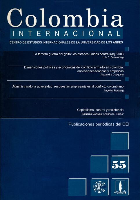 Revista Colombia Internacional 55 de la Universidad de los Andes