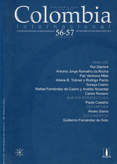 Revista Colombia Internacional 56 y 57 de la Universidad de los Andes