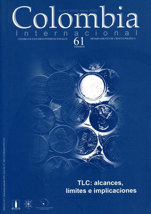 Revista Colombia Internacional 61 de la Universidad de los Andes