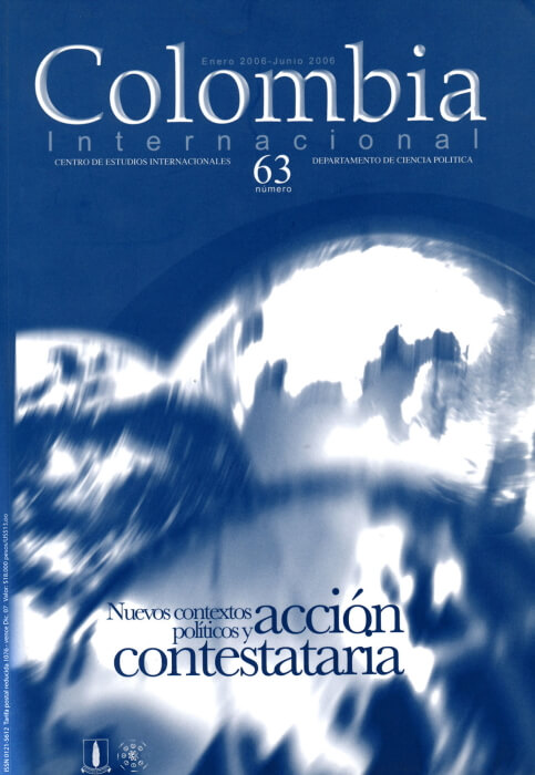 Revista Colombia Internacional 63 de la Universidad de los Andes