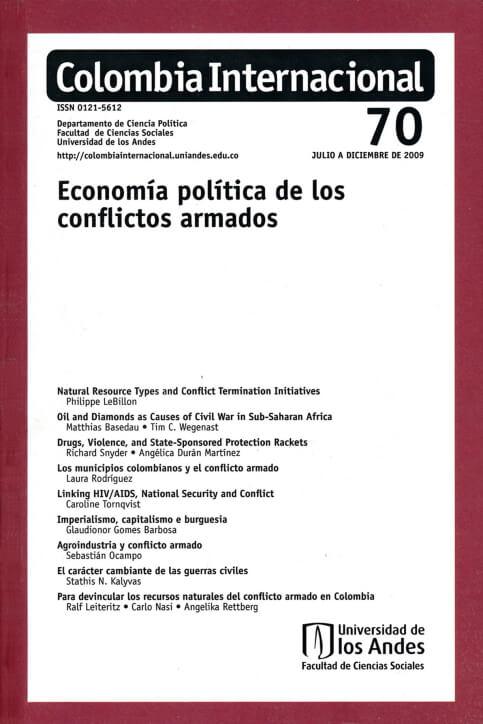 Revista Colombia Internacional 70 de la Universidad de los Andes
