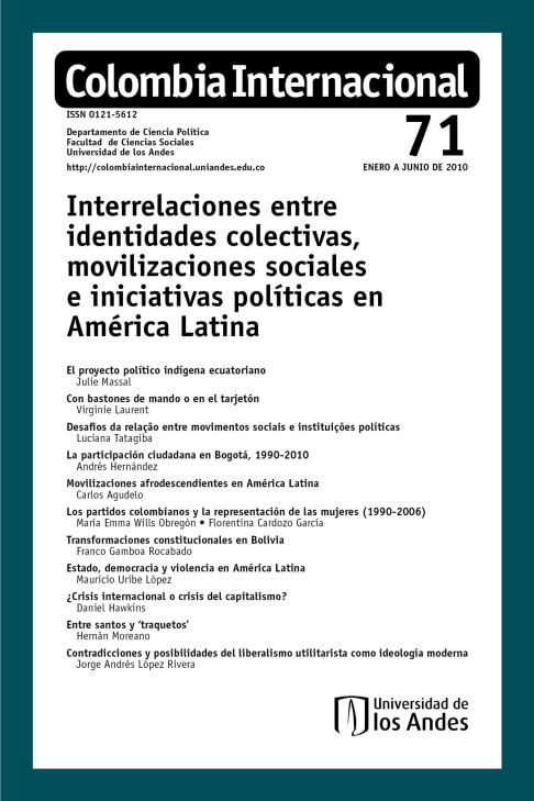 Revista Colombia Internacional 71 de la Universidad de los Andes