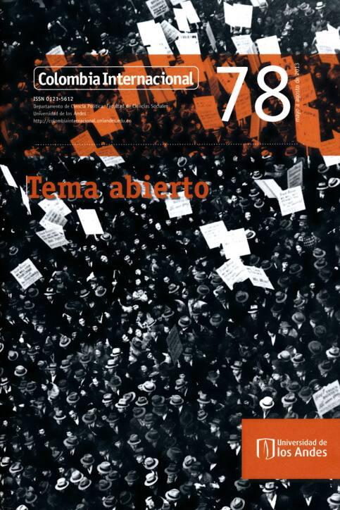 Revista Colombia Internacional 78 de la Universidad de los Andes