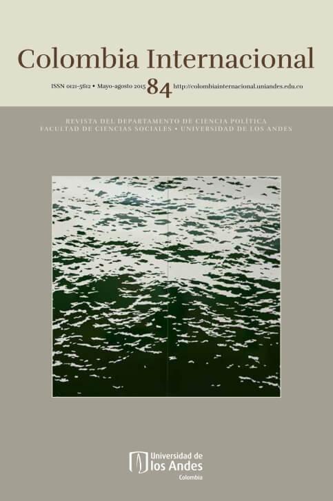 Revista Colombia Internacional 84 de la Universidad de los Andes