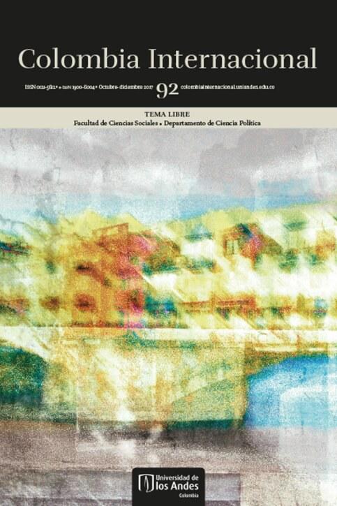 Revista Colombia Internacional 92 de la Universidad de los Andes