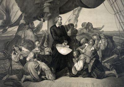 Cristóbal Colón descubriendo América