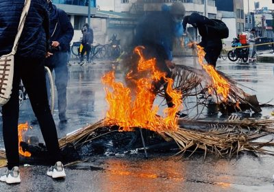 Incendio Protestas Paro