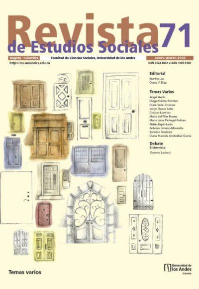 Revista de Estudios Sociales 71 de la Universidad de los Andes