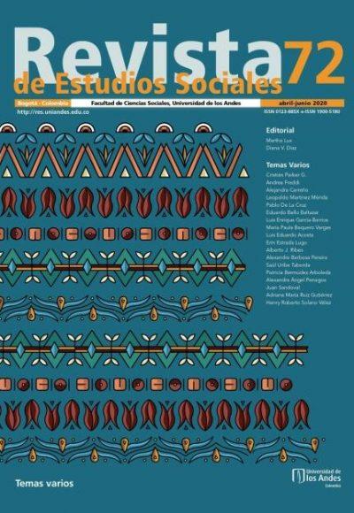 Revista de Estudios Sociales 72 de la Universidad de los Andes
